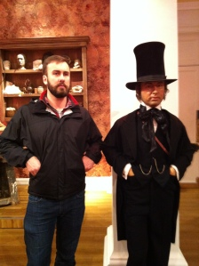 I made friends with Brunnel. Or, for my American readers, Abe Lincoln.