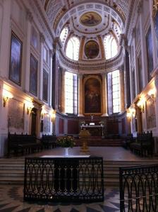 The interior of the Nikolaikirche